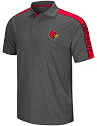 "Louisville Cardinals NCAA ""Southpaw"" Men's Performance Polo shirt Chemise - Charcoal"