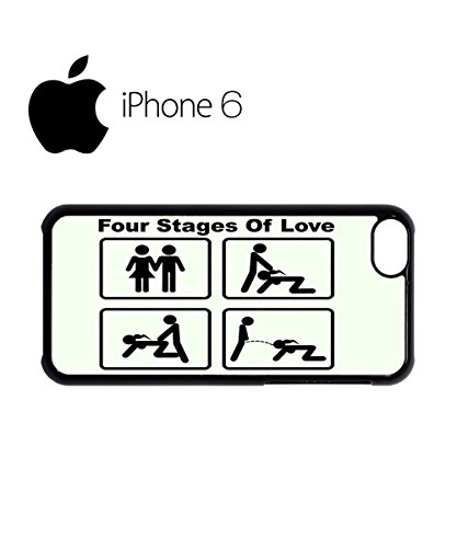 Four Stages of Love Funny Swag Mobile Phone Case Back Cover Hülle Weiß Schwarz for iPhone 6 White Schwarz