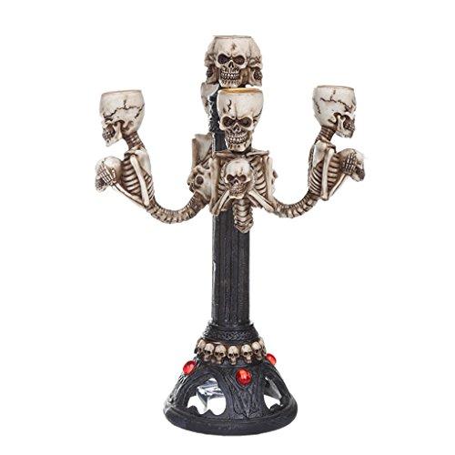 B Blesiya Schädel Leuchter Kerzenleuchter Tischleuchter Halloween Dekoration