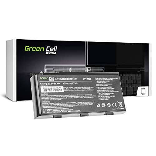 Foto GC PRO Serie Batteria per Portatile MSI GT70 2OKWS-1053US 2OL 2OLWS-683US Dominator Pro-1039 Pro-888 Pro-889 Pro-890 Dragon Edition 2 Extreme (Le Pile Originali Samsung SDI, 9 Pile, 7800mAh, Nero)