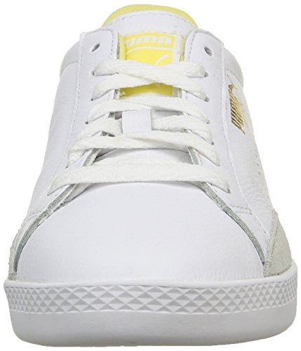 Puma Match Lo Basic Sports Wns - Scarpe da Ginnastica Basse Donna Weiß (white-mellow yellow 13)