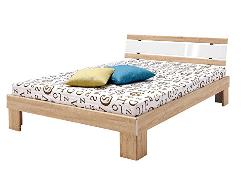 Avanti trendstore - jacub - letto francese con materasso e rete a doghe incluso, dimensioni: lap 146x76x206 cm