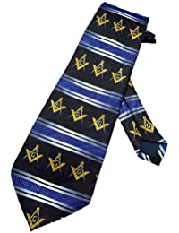 cravate Steven Harris franc maçon - bleu marin - taille unique