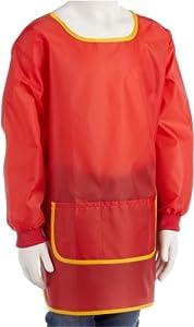 Idena 611184 - Delantal para manualidades (de 5 a 6 años), color rojo Importado de Alemania