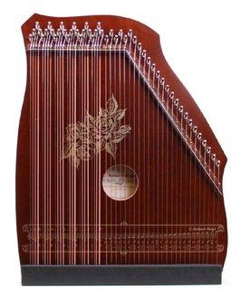Hopf Akkordzither 100/3 Mahagoni 6 Akkorde, 25 Melodiesaiten, Zither Holz Natur