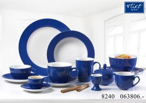 Flirt By R&B Geschirr-Serie Doppio indigo-blau Material 6er Set Kaffeebecher Doppio indigo-blau