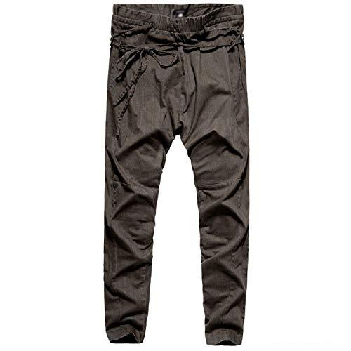 Männer Nner Harem Hosen Casual Hosen Low Männer Crotch Nner Fashion Pant Jogger Hosen Freizeithose Elastische Taille (Color : Olive Green, Size : L)
