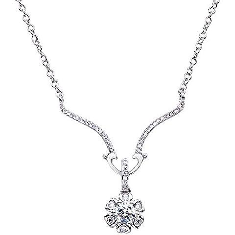Lan Fan Collana pendente in argento Moda Unico S925 - Argento Nome Blocco Collana