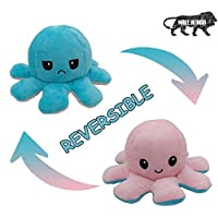 Reversible Cute Pink and Blue 10 inches Octopus, Mood Changing. Pack of 1 pcs.
