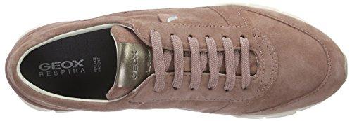 Geox D Sukie A, Baskets Basses Femme Pink (OLD ROSEC8014)