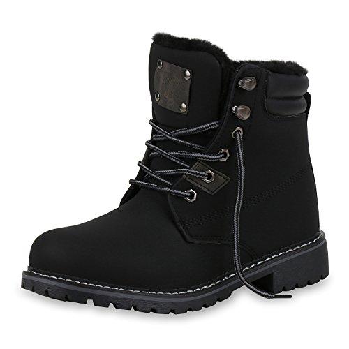 Anzug Kostüm Chemische - SCARPE VITA Damen Stiefeletten Worker Boots Warm Gefütterte Outdoor Schuhe 165612 Schwarz Warm Gefüttert 38