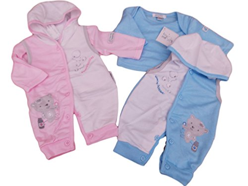 BNWT reborn Premature Preemie Baby Clothes 2 Piece hooded all in one and top (3-5lbs, blue)