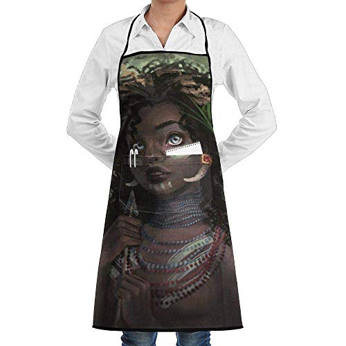 Hunter Bib (Xukmefat Grill Aprons Kitchen Chef Bib African American Women Hunters Extra Long Adjustable Ties for Cooking,BBQ,Baking)