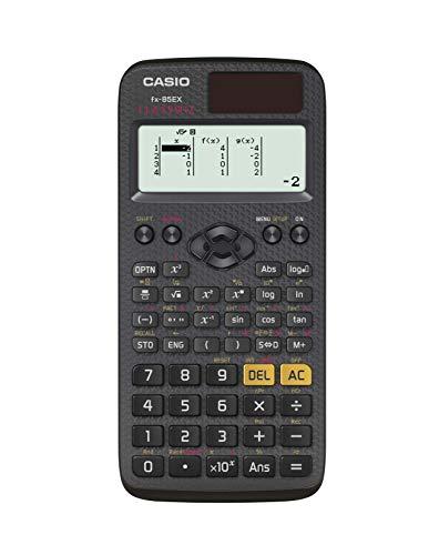 Casio classwiz fx-85ex calcolatrice scientifica - 274 funzioni, display naturale,  alimentazione combianta