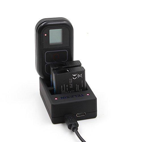 TELESIN Ersatz-Akku 2 Pack mit Multifunktions-Ladegerät für GoPro HERO5 Schwarz, Hero4 Silber, Hero4 Schwarz Kameras (Multi Ladegerät für Hero5 / Hero4 + 2 Batterien für Held 5 Schwarz) - Silber Ersatz-akku
