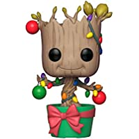 FunKo - Pop! : Marvel: Holiday Groot with Lights & Ornaments (Bobblehead), Mehrfarbig, 33982