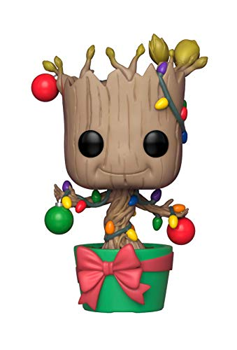 Funko Pop Bobble: Marvel: Holiday Groot w/Lights & Ornaments Collectible Figure, 33982, Multicolour