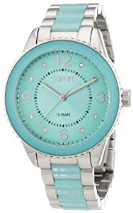 Esprit Damen-Armbanduhr marin lucent Analog Quarz verschiedene Materialien ES106192003