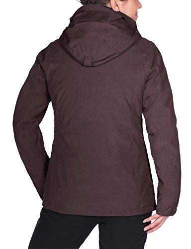 VAUDE Damen hardshelljacke Caserina 3-in-1 Jacket Raisin