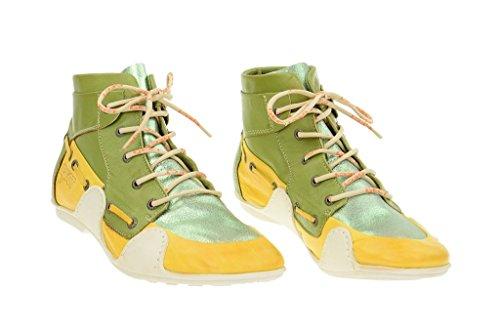 Eject sayaka bottines pour femme jaune/vert-bottes-doublure en cuir véritable Vert - Vert