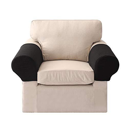 Stoff Sofa, Sofa Loveseat Sessel (Wateralone Armlehnenbezug, Dehnbares Gewebe Für Ihre Möbel, Anti-Rutsch-Armlehnenbezug, Für Stoff- Und Leder-Liegestühle, Sessel, Loveseats Und Sofas, 2 Stück)