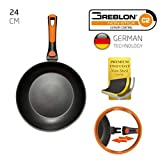 ROCKMAG II Sartén con Mango Desmontable 24 cm de diámetro de Berela, Sartén Greblon Antiadherente Eco PFOA Free con tecnología Alemana.