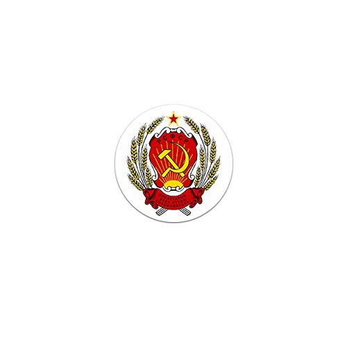 Russischen Kommunismus (Aufkleber / Sticker -RSFSR Wappen Russia Russische Sozialistische Föderative Sowjetrepublik Russisch Moskau Unionsrepublik Kommunismus Emblem 7x7cm #A3248)
