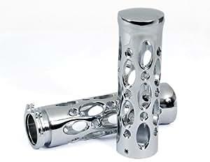 Poignée en métal chromé de bar Grips pour moto 2,5cm neuf universel compatible avec paire