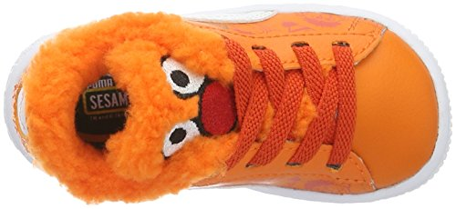 Puma Unisex-Kinder Basket Sesame B&e Ac Low-Top Orange (Dandelion-vibrant Orange-puma Black 01)