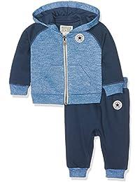 Converse Core Raglan Jogger Set 24M, Chándal para Bebés, Blue (All Star Navy), 18-24 Meses (Tamaño Fabricante:24 Meses)