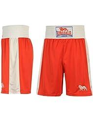 Lonsdale para Hombre Caja Corto Pantalones de boxeo de entrenamiento Sport Gimnasio Wear Rojo multicolor medium