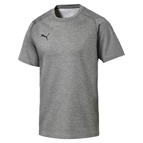 PUMA Herren Liga Casuals T Shirt Medium Gray Heather Black, 3XL Preisvergleich