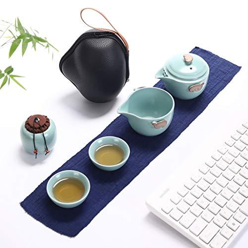 Handgemachte tragbare Kung Fu Tee-Set, Tee-Set im chinesischen Stil, Reisen Tee-Set mit Teetasse, Teekanne, Teeglas