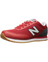 New Balance Mens 501 Lifestyle Fashion Sneaker Red/Grey/Black 8.5 D US