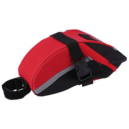 Docooler Fahrrad Sattel Beutel/Fahrrad Tasche Aussentasche Rot