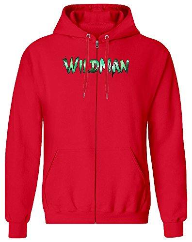 Wildman Zipper Hoodie for Men - 100% Soft Cotton - High Quality DTG Printing - Custom Printed Mens Clothing