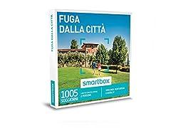Idea Regalo - smartbox - Cofanetto Regalo - Fuga dalla Città - 1615 soggiorni in B&B, agriturismi, masserie o Hotel 3*