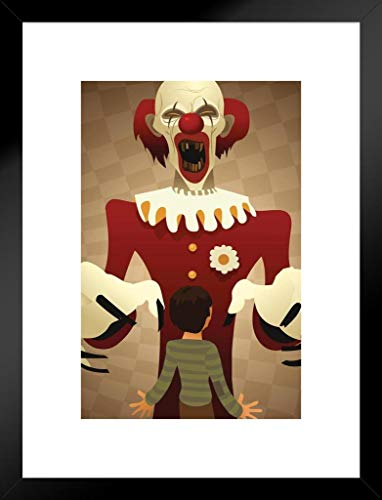 Foundry Poster Scary Horror Clown Illustration Artistic Fantasy 20x26 inches Matted Framed Poster