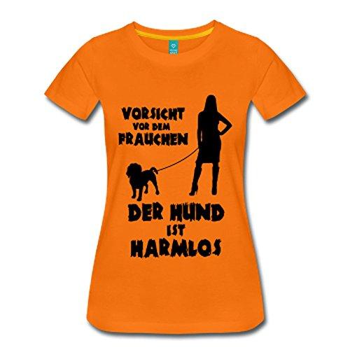 IchLiebeHunde.com Beagle: Vorsicht vor dem Frauchen - der Hund ist Harmlos (T-shirt Hund Schwarze Neue Tee)