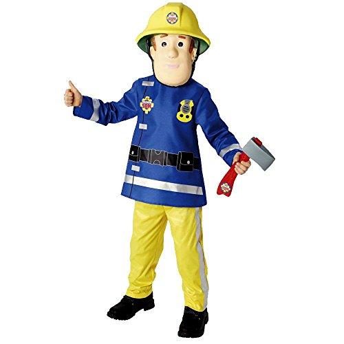 Sam il pompiere - fireman sam - bambino costume carnevale (taglia m - 5 a 6 anni)