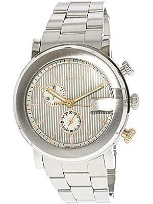 Gucci Men's G Chronograph 43mm Steel Bracelet & Case Quartz Watch YA101360