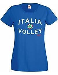 Settantallora - T-Shirt Maglietta Donna J1086 Italia Nazionale Pallavolo Rio 9684925fc03e