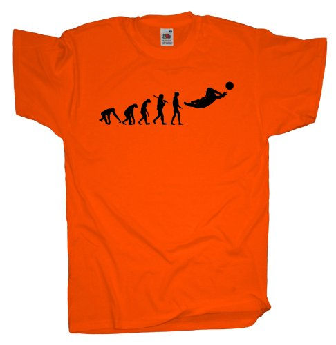 Ma2ca - Evolution - Beachvolleyball Volleyball T-Shirt Orange