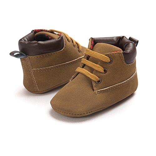 0 Neugeborenen 18 Laufternshuhe Krabbelschuhe Nicetage Monate Süß Mädchen Dunkel Braun Baby Für Schuhe vYwpnZgqU