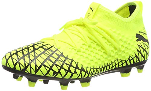 PUMA Future 4.3 Netfit FG/AG, Botas de fútbol para Hombre, Yellow Alert Black, 39 EU