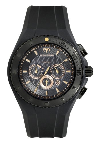 Technomarine 109047 - Reloj cronógrafo de cuarzo unisex, correa de silicona color negro