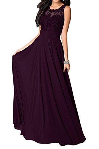 Abendkleid bordeaux Cocktailkleid Chiffon Stufen Abiballkleid Kleid 34