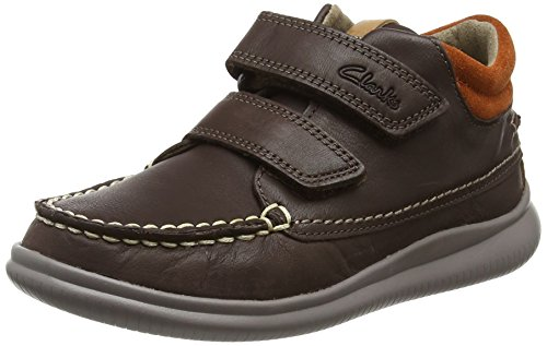 Clarks Jungen CloudTuktu Inf Stiefel, Braun (Brown Leather), 28 EU