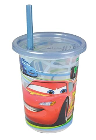 The First Years 3 Cars Sava Semi Disposable 10Oz/296Ml Straw Cups