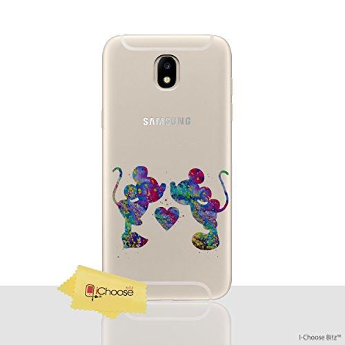 Fan Art Étui/Coque de Téléphone pour Samsung Galaxy J5 2017 / Silicone Doux Gel/TPU / iCHOOSE / Mickey Aime Minnie